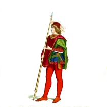medieval_man_in_fancy_clothes_and_holding_a_spear